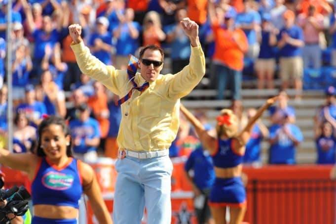 Former Gator Chris Doering As Honorary Mr. Two Bits-Florida Gators Football-1280x852