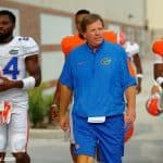University of Florida head football coach Jim McElwain walks out to fall practice on August 27 - Florida Gators football - 1280x852