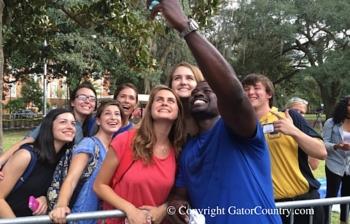 Alex Brown Returns Home to Florida Gators as Mr. Two-Bits