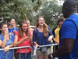 Alex Brown Visits With Fans at SEC Nation Set Florida Gators Football