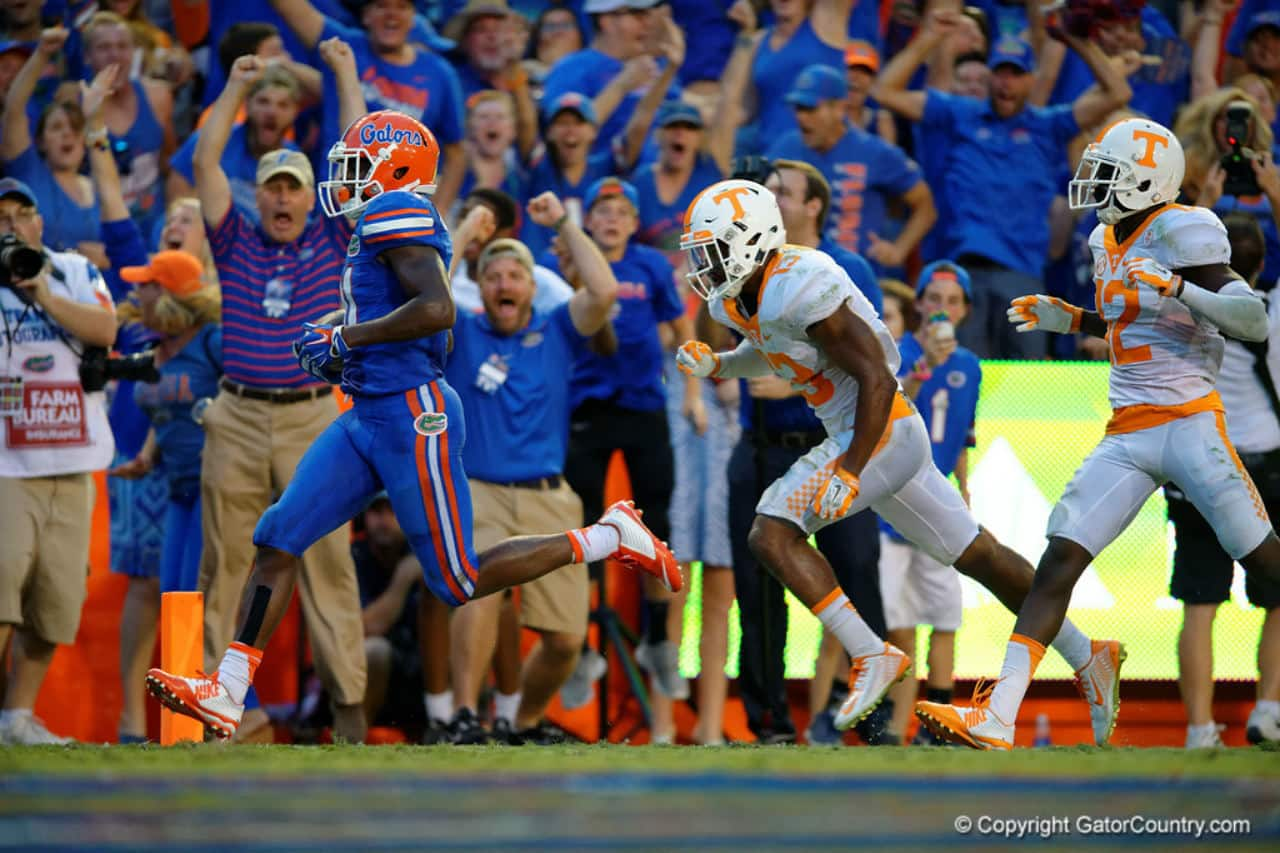 Antonio Callaway scores the game winning touchdown for the Florida Gators football team- 1280x853