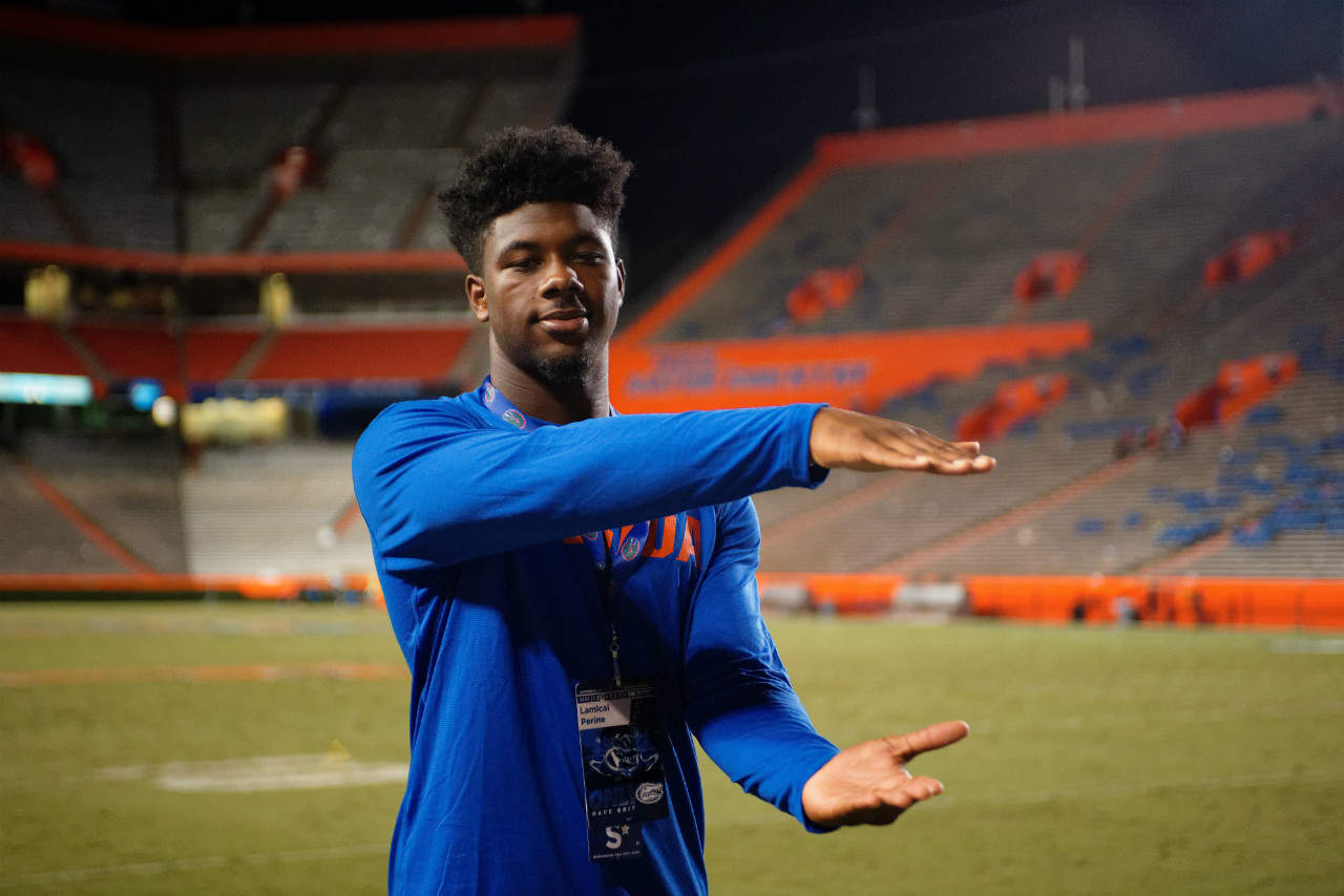 Florida Gators RB commit Lamical Perine at the Tennessee game- 1280x854