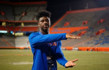Perine spends time recruiting for the Florida Gators