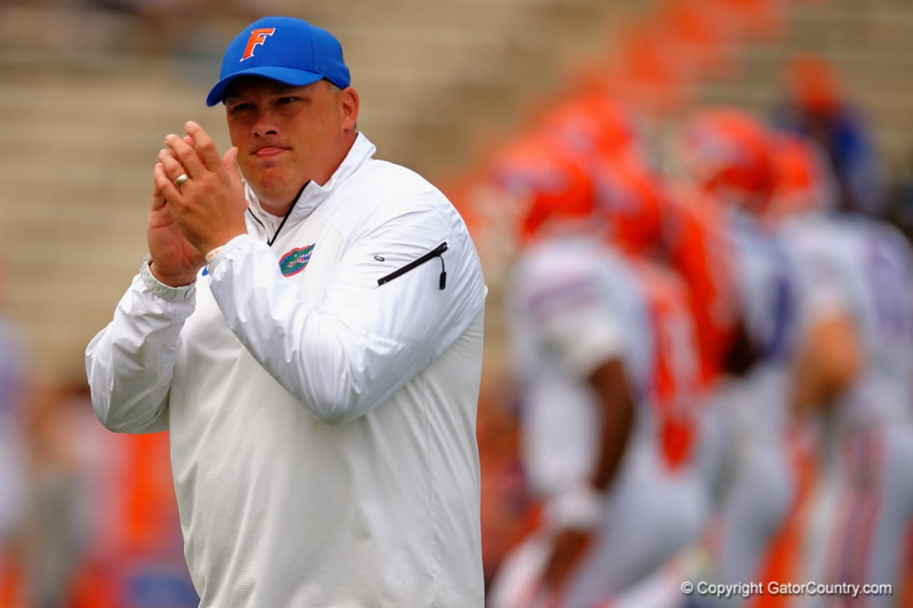 Florida Gators defensive coordinator Geoff Collins previews the opening game of the season- 1280x853