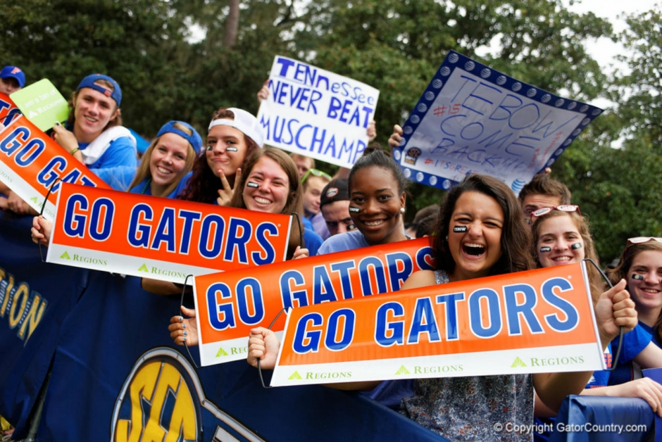 Florida Gators fans at SEC Nation for when the Florida Gators football team played Tennessee-1280x855
