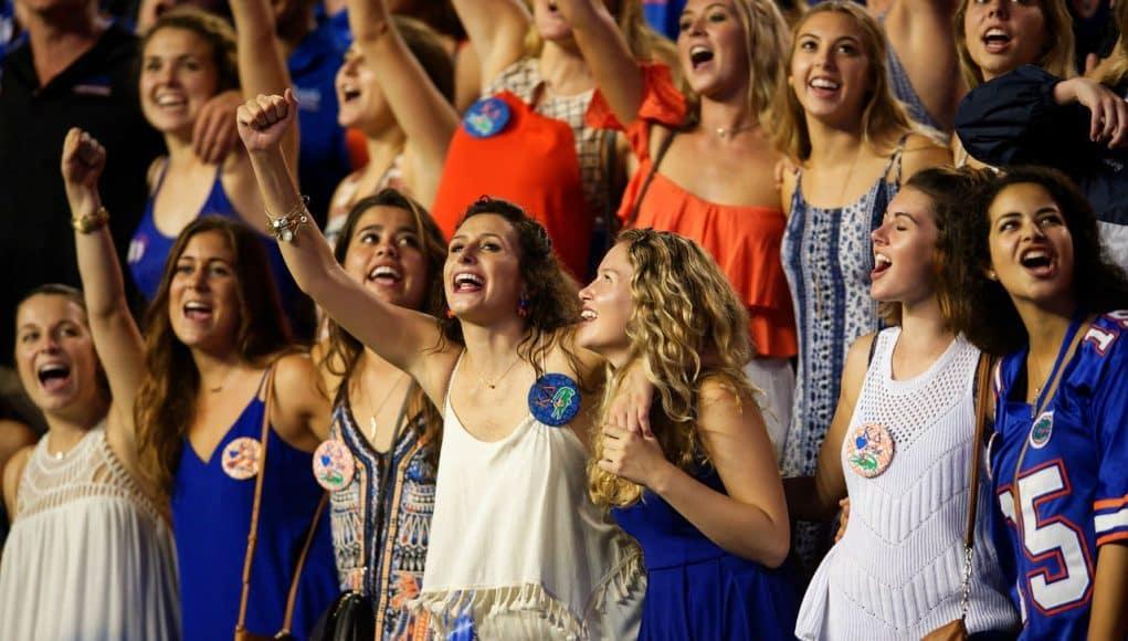 Florida Gators football fans cheer against ECU- 1280x854