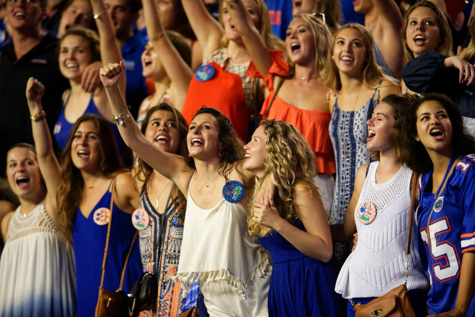 Florida Gators football fans cheer against ECU- 1280x854