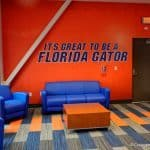 Florida Gators indoor practice facility photo of the recruiting area- 1280x853