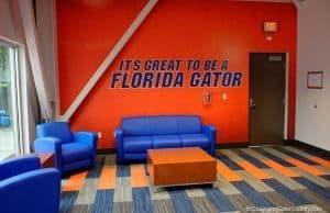Florida Gators indoor practice facility photo of the recruiting area- 1280x853