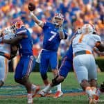 Florida Gators quarterback Will Grier throws downfield against Tennessee- Florida Gators football- 1280x853