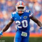 University of Florida redshirt junior defensive back Marcus Maye warming up before taking on the Tennessee Volunteers- Florida Gators football- 1280x852