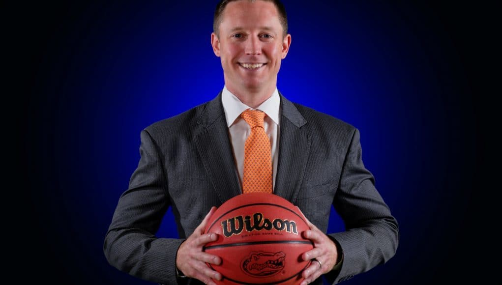 University of Florida head basketball coach Mike White poses during basketball media day- Florida Gators basketball- 1280x852