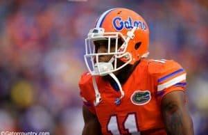 University of Florida junior receiver Demarcus Robinson warms up before the Gators game agianst East Carolina- Florida Gators Football- 1280x854