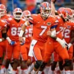 Florida Gators QB Will Grier leads the team out against Ole Miss- 1280x853