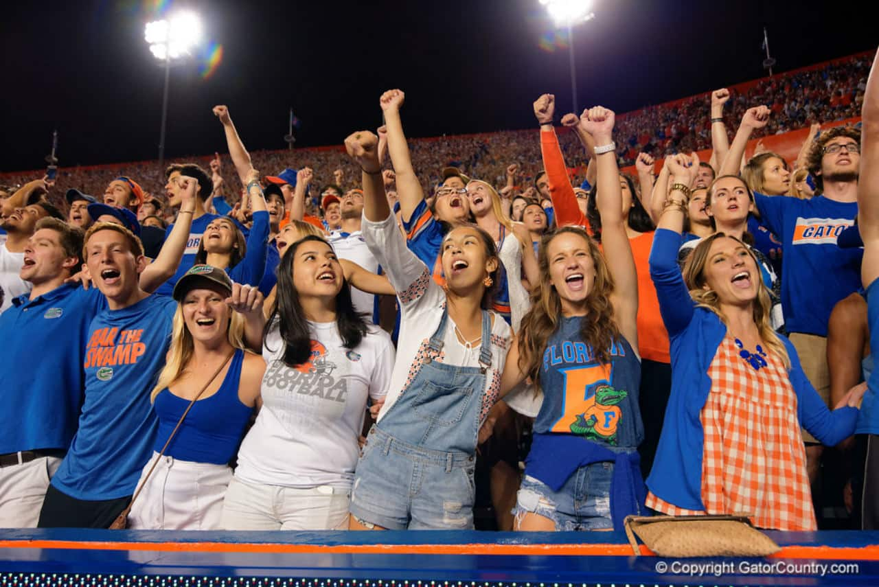 Florida Gators football fans cheer during the Ole Miss game- 1280x855