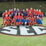 Florida Gators soccer team celebrates the SEC title- 1280x960