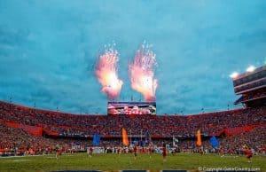 he Florida Gators football team runs out against Ole Miss- 1280x855