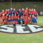 The University of Florida women's soccer team celebrates winning a SEC Championship- Florida Gators soccer- 1280x960