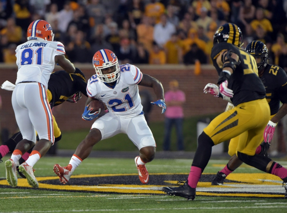 Florida Gators RB Kelvin Taylor had a big game against Missouri on Saturday night- 1280x953