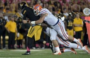 Florida Gators defensive tackle Joey Ivey with the sack against Missouri- 1280x882