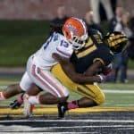 Florida Gators linebacker Daniel McMillian makes the tackle against Missouri - 1280x885