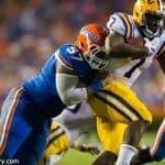 University of Florida defensive tackle Caleb Brantley tackles LSU Tigers running back Leonard Fournette- Florida Gators football- 1280x852