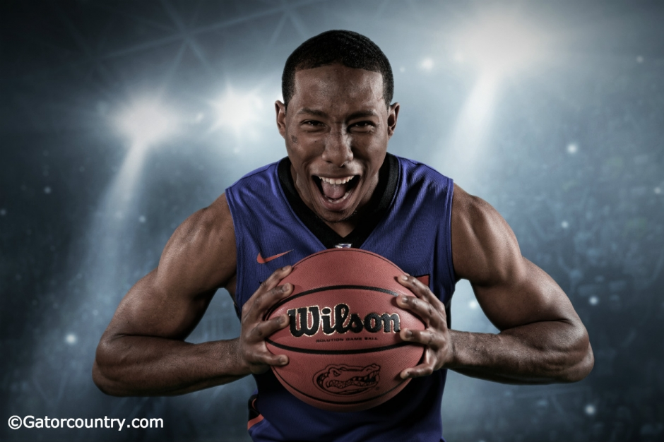 University of Florida freshman basketball player KeVaughn Allen poses for Gator Country at basketball media day- Florida Gators basketball- 1280x852