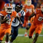 University of Florida receiver Brandon Powell races to the end zone for a touchdown against Ole Miss- Florida Gators football- 1280x852