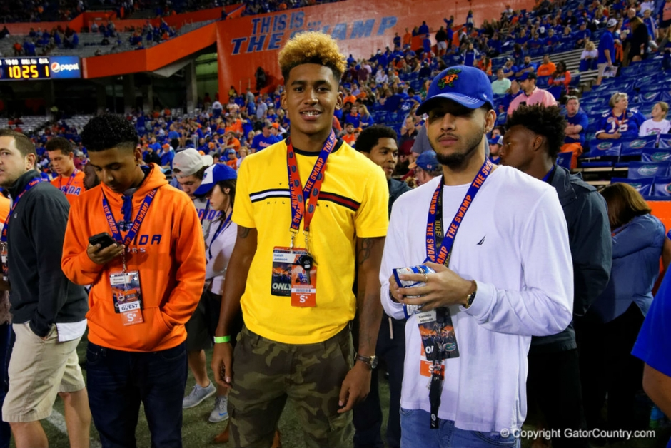 Florida Gators WR commit Isaiah Johnson at the FSU game in 2015- 1280x855