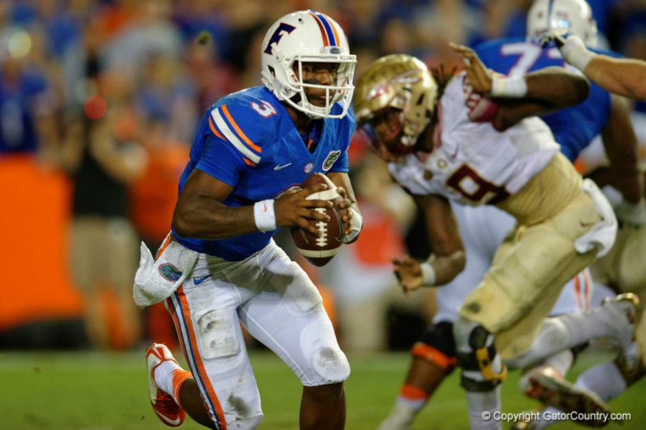 Florida Gators quarterback Treon Harris against FSU-1280x853