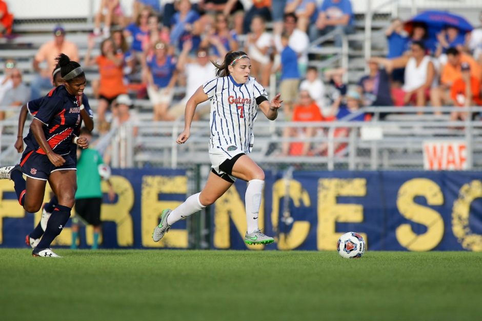 Florida Gators soccer player Savannah Jordan against Texas A&M- 1280x853