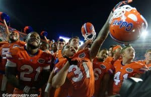 The Florida Gators celebrate their win over the ECU Pirates- Florida Gators football- 1280x852