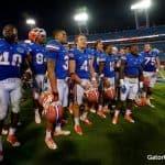 The Florida Gators football team celebrate a win over Georgia- 1280x852