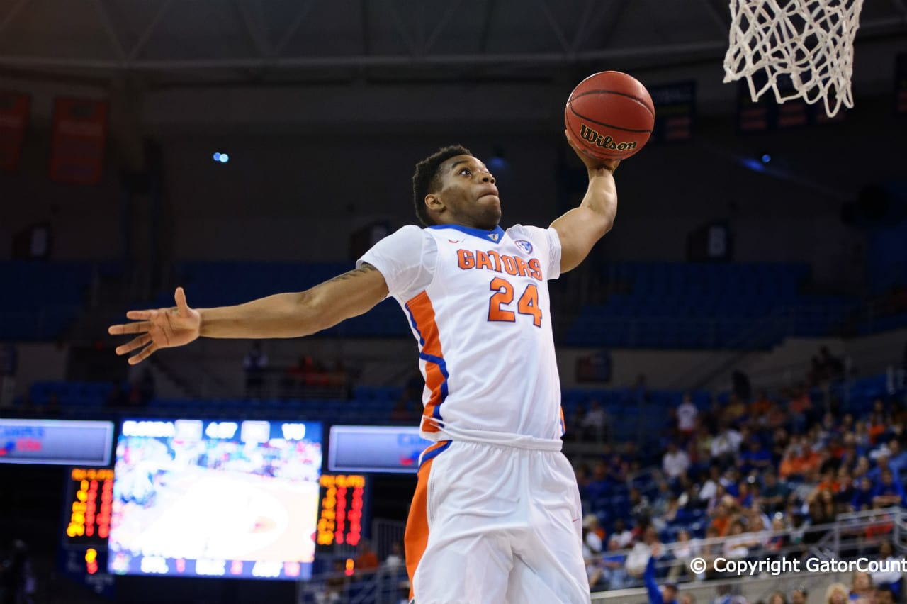 University of Florida Gators Basketball Vermont Catamounts Florida Gators guard Justin Leon