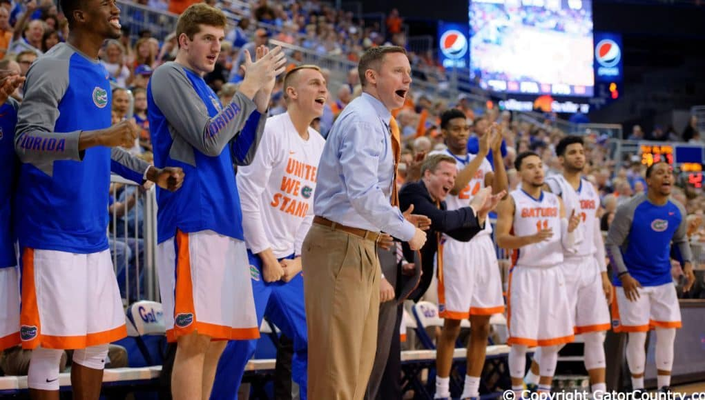 University of Florida Gators Basketball head coach Mike White and team