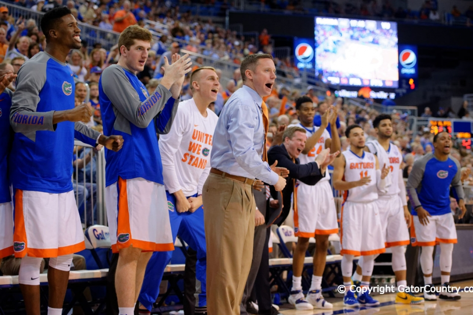 University of Florida Gators Basketball head coach Mike White and team