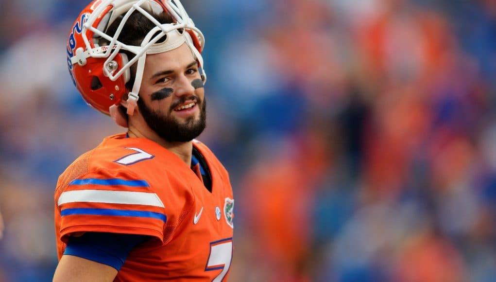 University of Florida quarterback warms up before the Florida Gators take on the Ole Miss Rebels- Florida Gators football- 1280x852
