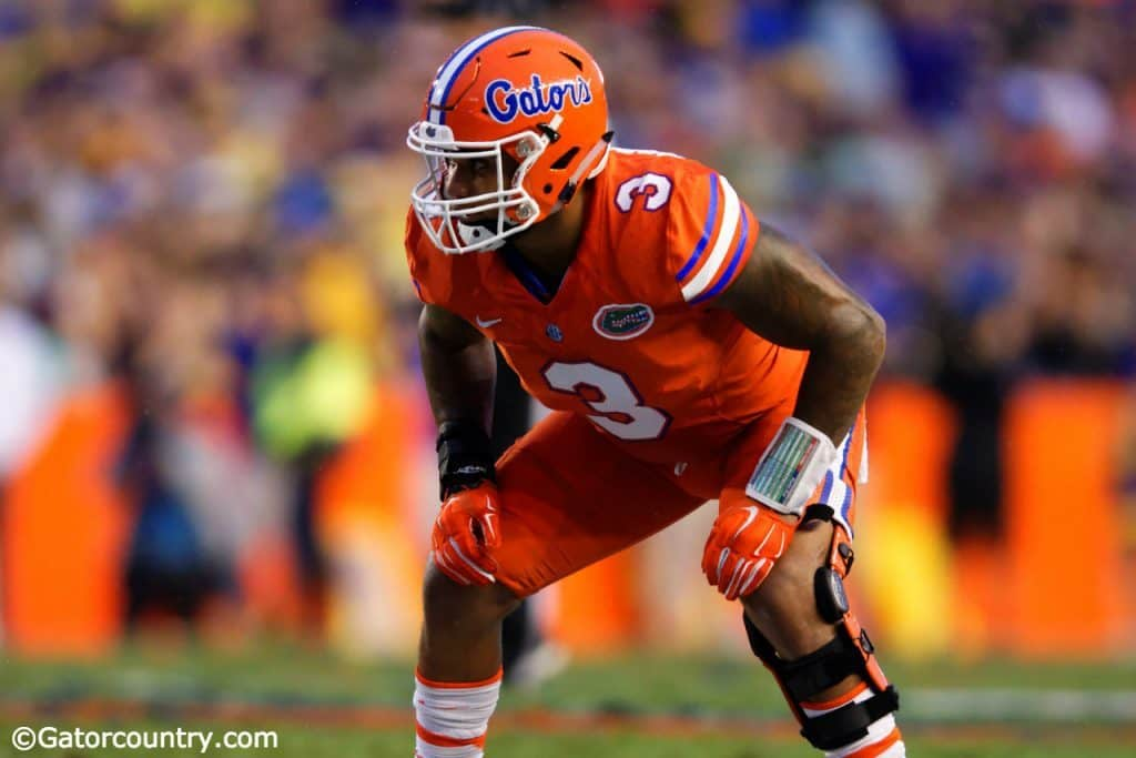 University of Florida senior linebacker Antonio Morrison lines up during the Florida Gators game against ECU- Florida Gators football- 1280x852