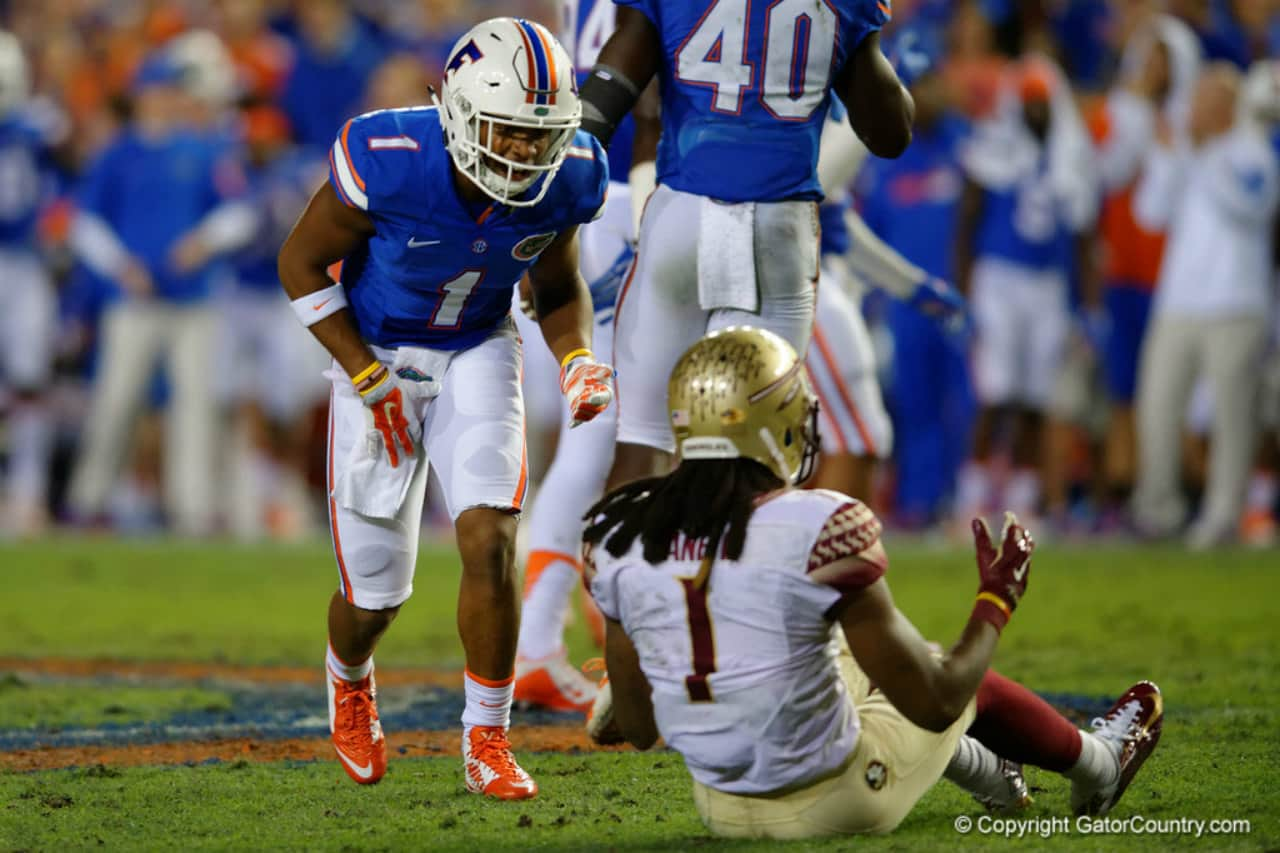 Vernon Hargreaves smacking talking Ermon Lane- Florida Gators - 1280x853