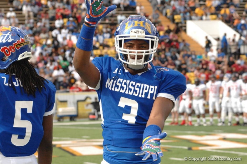 Florida Gators defensive back commit Quincy Lenton at the Al vs. MS all star game- 1280x850