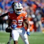 Florida Gators running back Jordan Scarlett carries the ball against Vanderbilt- Florida Gators football- 1280x852