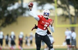 Florida Gators Quarterback Recruit Dwayne Haskins Throws During Practice for Under Armour All-American Game-Florida Gators-1280x851