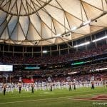 The Florida Gators band before the SEC Championship in Atlanta 2015- 1280x855