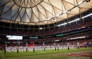 The Florida Gators band before the SEC Championship in Atlanta 2015- 1280x855