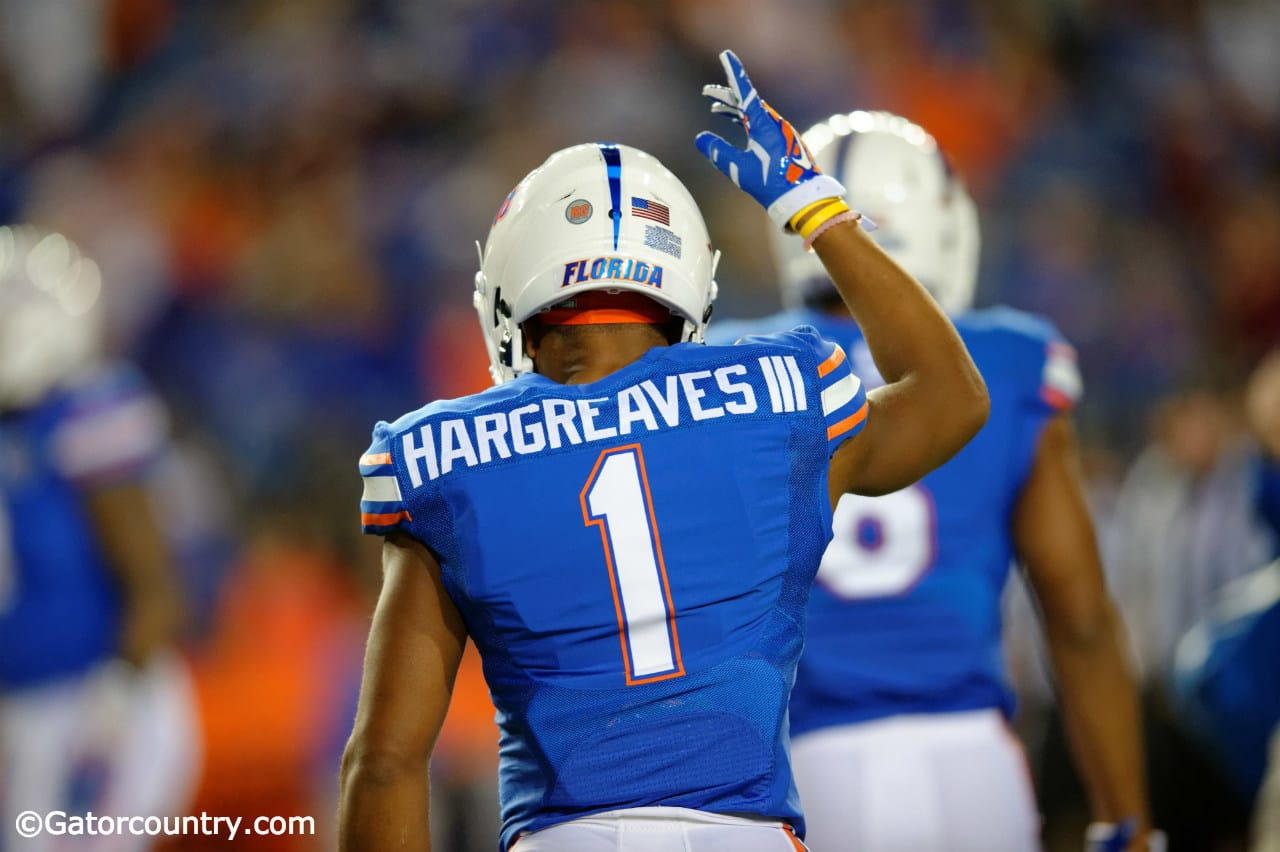 University of Florida cornerback Vernon Hargreaves III warms up before the Florida State game- Florida Gators football- 1280x852