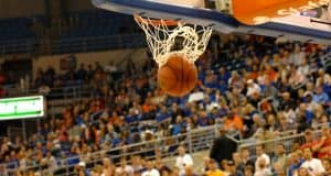 Ball Goes Through the Basket in Stephen C. O'Connell Center-Florida Gators Basketball