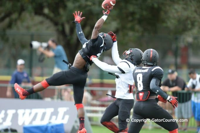 Defensive Back Chauncey Gardner Tips Pass During Under Armour Practice