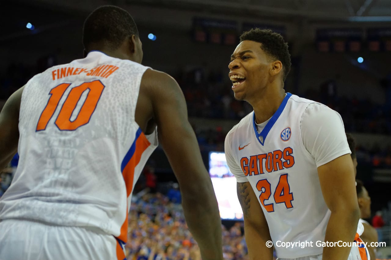 Florida Gators basketball Forwards Justin Leon and Dorian Finney-Smith Florida Gators Basketball