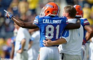 Florida Gators freshman receiver Antonio Callaway and Jim McElwain before the Buffalo Wild Wings Citrus Bowl- Florida Gators football- 1280x852