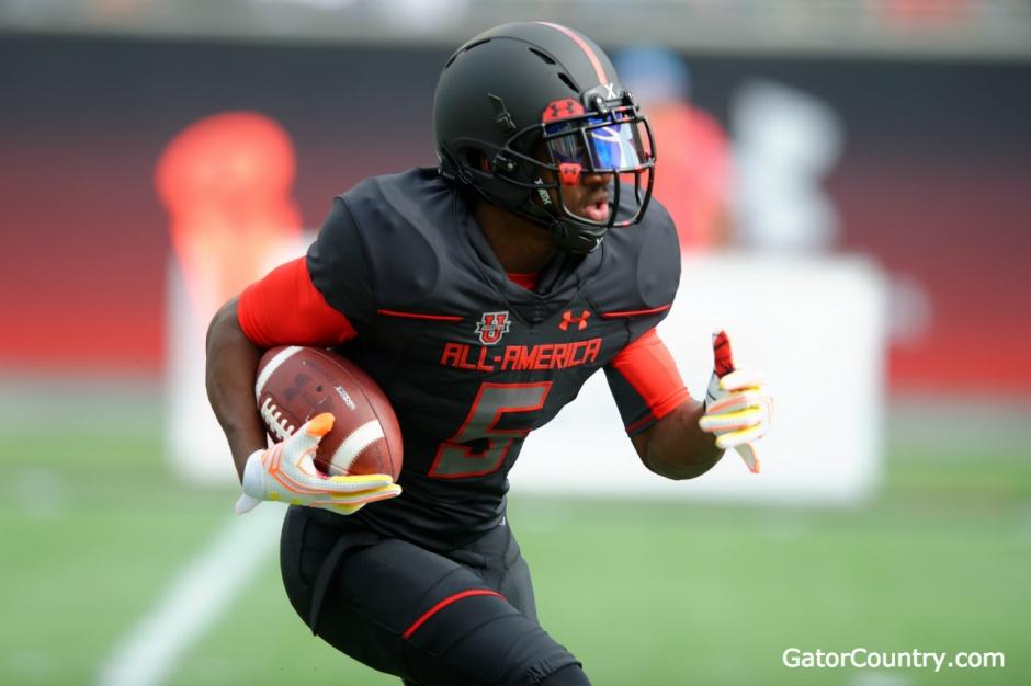 Florida Gators receiver commit Josh Hammond at the Under Armour game- 1280x852